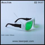 레이저 안전 고글 Laser 보호 Eyewear O.D 6+@ 635nm, 650nm, 프레임 36를 가진 694nm (RHP-2 600-700nm)의 조정가능한 프레임 36