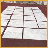Telha de assoalho de pedra de mármore branca Polished barata de China Guanxi/Bianco para o revestimento/parede
