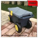Carro robusto móvil del rectángulo de almacenaje de la herramienta del jardín con la rueda 4