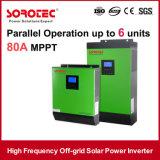 système à énergie solaire de 5kVA 4000W outre d'inverseur hybride d'énergie solaire de réseau pour le système de panneau solaire
