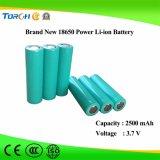 Prezzo di fabbrica della batteria del litio 18650 del fornitore 3.7V 2500mAh di piena capacità