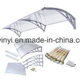 DIY im Freien kleiner Polycarbonat-Markisen-Regenschutz für Windows (YY600-C)