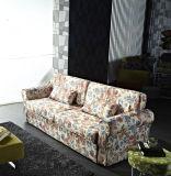 居間の家具として旧式なあるファブリックSofabed