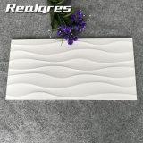 Azulejos esmaltados de interior de cerámica lisos blancos de la pared de la onda, comerciante 300X600 de las baldosas cerámicas