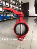 Válvula de borboleta alinhada PTFE/EPDM da bolacha do ferro de /Ductile do aço inoxidável de Ss/Ci/Di/ferro de molde