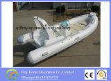 Ce 4.2m Barco de pesca de fibra de vidro inflável de costela