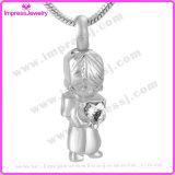 I monili di cremazione dell'acciaio inossidabile del cuore della stretta della bambina inceneriscono la collana Pendant del supporto del Keepsake (IJD9650)