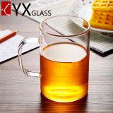 Чашки выпивая стекла чашки чая боросиликата чашка Drinkware одностеночной стеклянной Handmade прозрачной теплостойкfNs с ручкой