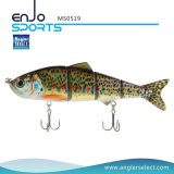 Pesca Multi-articulada Life-Like Minnow Lure Isca baixa Swimbait Shallow Fishing Tackle Fishing Lures (MS0519)