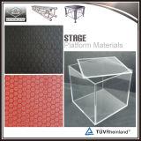 Pés ajustáveis da plataforma portátil de madeira de alumínio do estágio