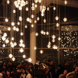 Solid Bubble Crystal Clear Glass Balls Project Chandelier