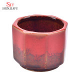De nieuwe Ceramische Creatieve Bonsai Op hoge temperatuur van de Verandering van de Oven van de Lijn van de Bloempot van het multi-Vlees In het groot, Eenvoudige Hexagonale