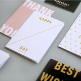 Tarjeta de papel plegable, tarjeta de felicitación, impresión de la tarjeta del regalo