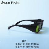 Proteção de olho 755nm dos vidros da segurança do laser, 808nm, 980nm, 1064nm para o Alexandrite, 808 diodos de Diodes&980nm, ND: YAG com cores brancas