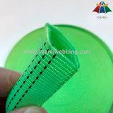 tessitura tubolare di nylon di verde di calce di 25mm con un filetto dei 3 elementi traccianti