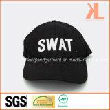 Бейсбольная кепка вышивки тяжёлого удара сверла хлопка воинская черная