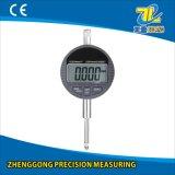 Calibre de medição 0-25.4mm do seletor dos indicadores de Digitas da ferramenta da exatidão elevada