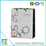 Изготовленный на заказ напечатанный логосом мешок подарка бумажный для покупкы