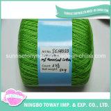 Filato Worsted di lavoro a maglia mercerizzato variopinto del peso del Crochet del cotone di conteggio su ordinazione