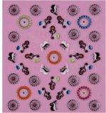 La decorazione di DIY Foils l'autoadesivo del chiodo degli autoadesivi di arte del chiodo della decalcomania 3D