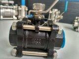 Válvula de esfera de Wcb 1000wog três Picec com linha de NPT/Bsp