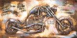 arte della parete della pittura del metallo 3D per Motobike