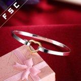 De promotie Geplateerde Armband van de Vorm van het Hart van de Liefde van de Gift Zilver voor Meisje