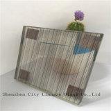 стекло прокатанного стекла зеркала 10mm+Silk+5mm черное/искусствоа/шелк напечатанное стеклянное/Tempered стекло для украшения