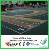 屋外スポーツのバレーボールのバスケットボールコートのゴム製フロアーリングのマットをマルチ使用しなさい