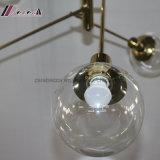 Lâmpada decorativa moderna do pendente do candelabro da forma das filiais