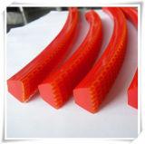 Roter gewölbter Griff-Riemen für Gewebe