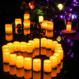LED sin llama de la vela del té ligero / 1xCR2032 con pilas de vela de Tealight