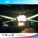 P3.91 P4.81 P6.25 SMD LED 스크린 고해상 임대 발광 다이오드 표시 4개의 층 PCB 실내 단계