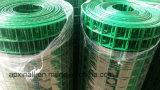 Bezirk-angemessener Lieferanten-überzogene geschweißte Maschendraht-/Welded-Ineinander greifen-Plastikrolle dunkelgrün