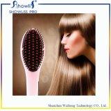 Cepillo rápido automático eléctrico al por mayor de la enderezadora del pelo del PTC de la calefacción