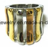 Alta calidad de galvanoplastia de acero inoxidable anillo de la joyería (SCR2965)