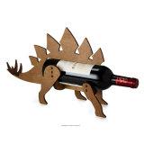 Индикация таблицы держателя бутылки шкафа вина животной переклейки сбор винограда деревянная
