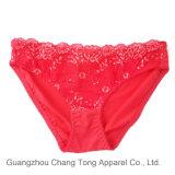 con señora roja Sexy Panty del cordón de los diseñadores profesionales