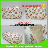 Sac cosmétique de qualité de PVC estampé par fleur pour la promotion de cadeau