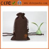 عالة كبيرة تكّة أطلس طبع حقيبة/هبة حقيبة مع علامة تجاريّة