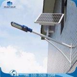 lámpara de calle solar al aire libre montada en la pared de la batería de litio 12W LED