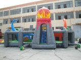 Patio inflable grande del dinosaurio de los cabritos para jugar del parque