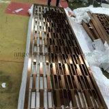 Construction Decoration Company beëindigt de Gouden Spiegel van de Kleur het Scherm van de Verdeler van de Zaal van het Roestvrij staal