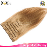 зажим прямых волос 7PCS/Set бразильских волос девственницы 7A прямой бразильский в волосах цвета выдвижений человеческих волос естественных черных
