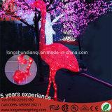 Flamingo do diodo emissor de luz do PVC IP65 que modela a luz do motivo para a decoração do Xmas
