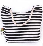 Handbag Canvas方法女性および花(BDX-161059)が付いているPUの革製バッグ浜袋