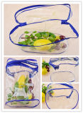 Costomised Clear PP sacos de beleza de plástico com fecho de correr