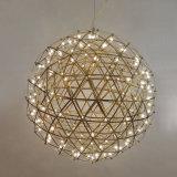Luz moderna colgante del colgante del fuego artificial de la iluminación LED de la bola