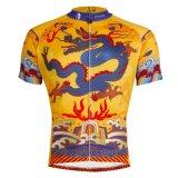 屋外の短い袖ジャージーのための中国のドラゴンの涼しい循環のワイシャツ