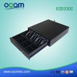 Cajón negro del efectivo del metal del cajón del efectivo para el anuncio publicitario (ECD330C)